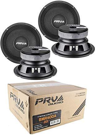 4 x PRV Audio 8MR400A Mid Range 8'' Pro Audio Loud Speaker 8 ohm 1600 Watts