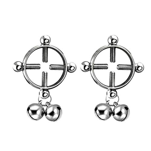 Body Piercing Breast Nail Screw Bell Fake Nipple Ring Jewelry Stainless Steel