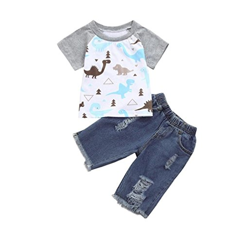 c474f2717 Moonker Toddler Baby Girls Boys Fashion Outfits Clothes Cartoon ...