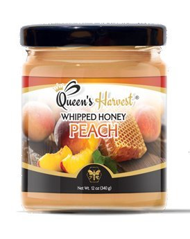 Queen's Harvest Peach Whipped Honey - Kosher Gourmet - Harvest Peach