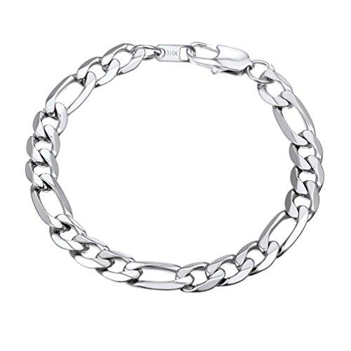 Link Chunky Bracelet (PROSTEEL Men Jewelry Big Chunky Bracelet Husband Groomsman 13mm 7.5'' Stainless Steel Figaro Link Chain Bracelet)