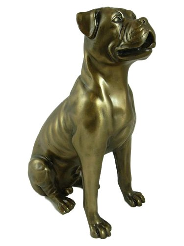 BOXER DOG Bronze Sculpture Statue