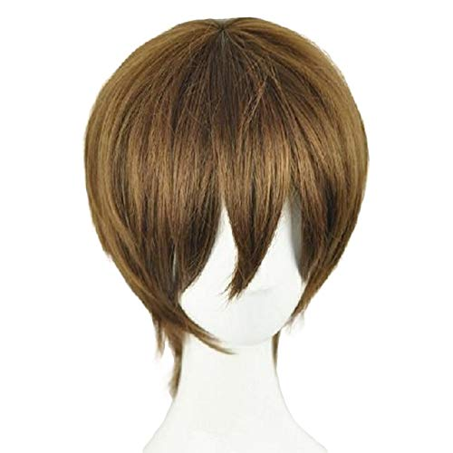 DB Yagami Light Brown Wig Protagonist Poster Short Straight 20cm Hot Anime Cosplay Costume Accessories Halloween Props ()