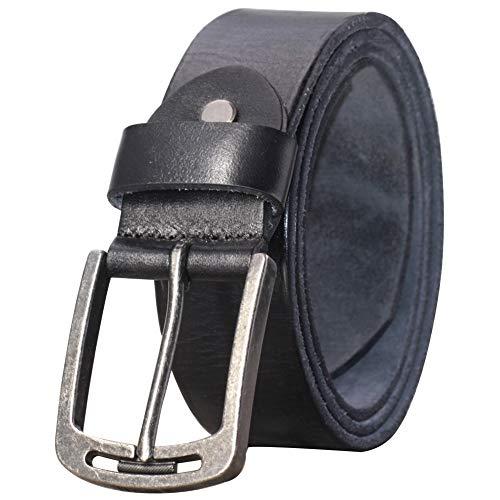 PAZARO Men's Soft Top Grain 100% Leather Belt (Mens Top Grain Leather)