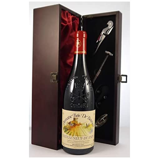 41qnMFi6VmL Chateauneuf-du-Pape-Bois-de-Boursan-2010-Versino-vintage-wine-in-a-silk-lined-wooden-box-with-four-wine-accessories-1-x-750ml