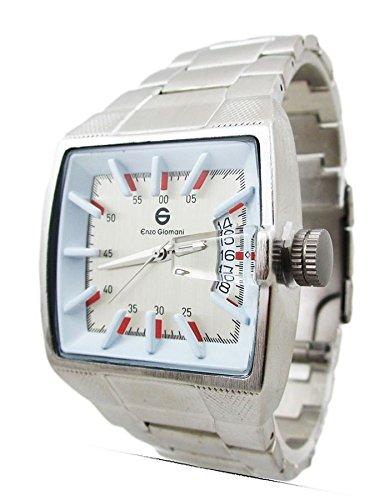 New venta para hombre relojes caros - relojes para hombre plateado con función FECHA Buff UK