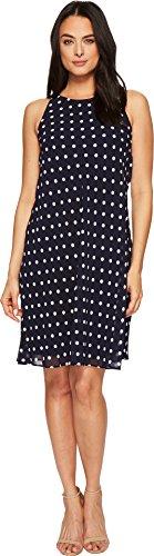 Lauren Ralph Lauren Women's Geminah Classy Dot Georgette Dress Lighthouse Navy/Cream (Polyester Georgette)