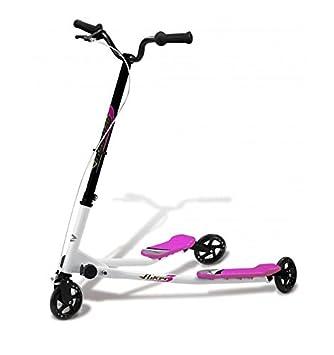 Fliker Bipatinete– Monopatín de 3 ruedas – Skateboard – Skate, ROSA: Amazon.es: Deportes y aire libre