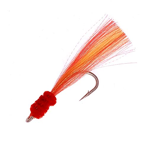 - Shrimp Fly - Size 7/0 - Yellow/Red - 6 Packs -30pcs - Item # 380