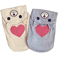Pet Dog Cat Clothes T-Shirts Dog Clothes Puppy Cotton Breathable Vest Small Dog Pajamas Coat Hoodies Outfit Costume…