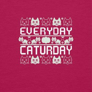 TEXLAB - Everyday Caturday - Damen Kapuzenpullover, Größe L, fuchsia