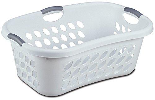Sterilite 12108006 White Hip Holder Laundry Basket (Sterilite 12108006)