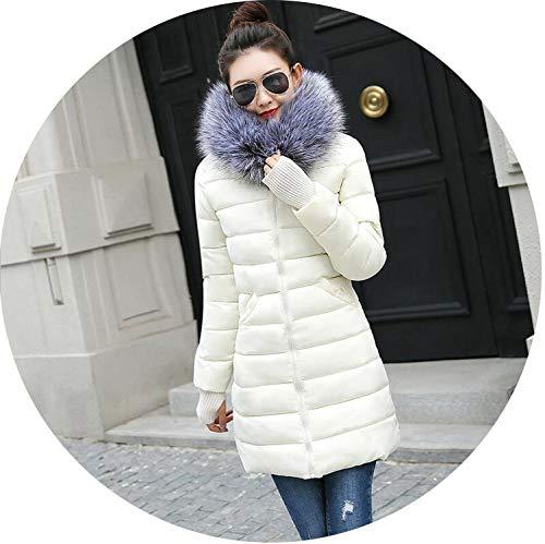 (Parkas Women Down Jacket Winter Jacket Women Thick Snow Wear Winter Coat,Beige 1,L)