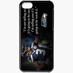 Personalized iPhone 5C Cell phone Case/Cover Skin 14381 russell wilson 1 sm Black