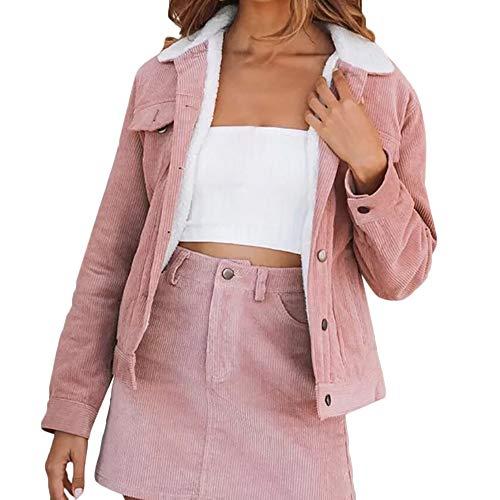 Femmes Longues Rose Pour Épais Hiver Chaud Manteaux Manches Manteau À Femme Xinantime qwCYv6n