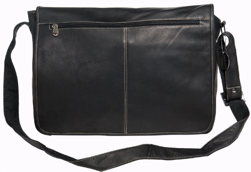 West Full Flap (David King & Co. Deluxe East West Full Flap Messenger, Black, One Size)