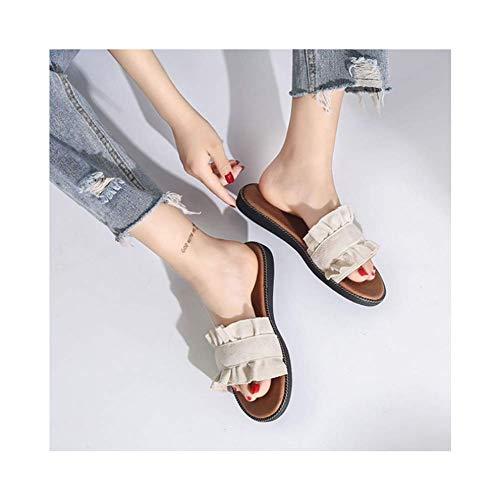 Sandales des Pantoufles Plates Chaussons Portent Femme 0wxIRZqnOz