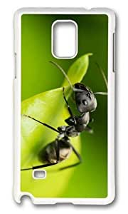 MOKSHOP Adorable Black Ant Hard Case Protective Shell Cell Phone Cover For Samsung Galaxy Note 4 - PC White