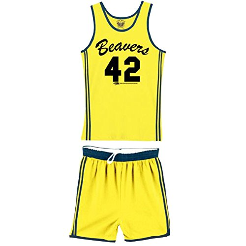 Teen Wolf Beavers 42 Scott Howard Werewolf Basketball Jersey Complete Costume -