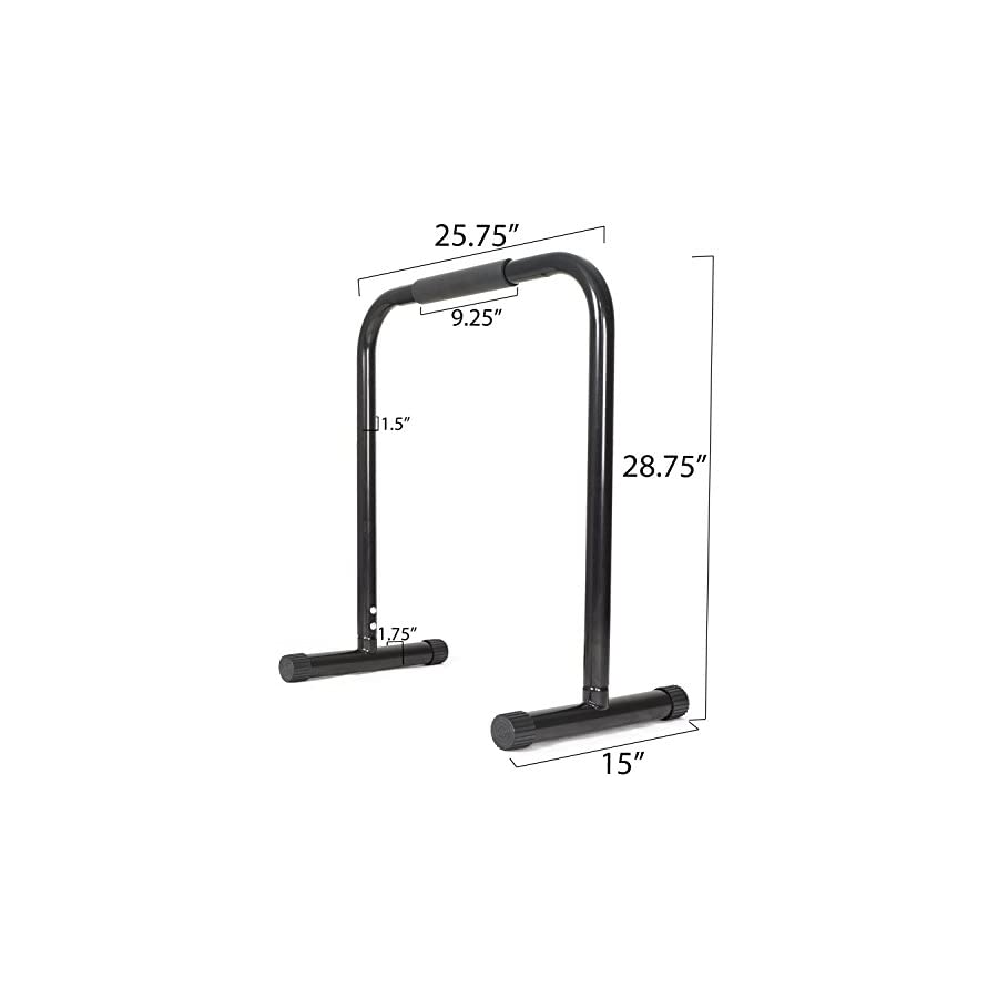 Titan Fitness Black Dip Station Leg Raise Bars Body Weight Parallettes Crossfit
