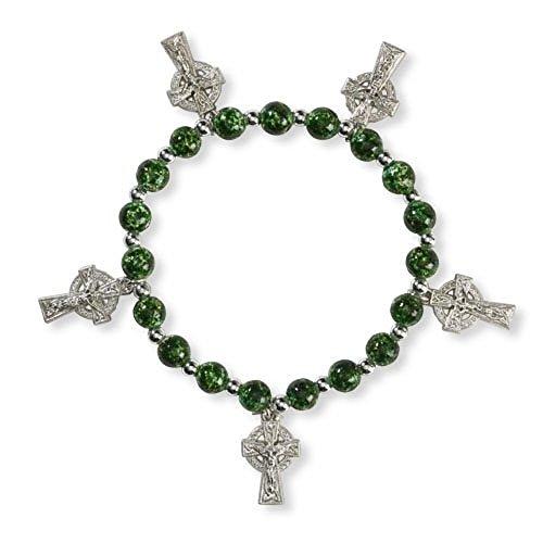 Celtic Crucifix Stretch Bracelet