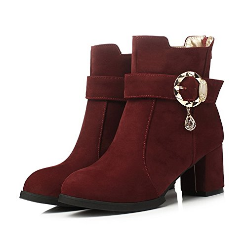 Schnalle Stiefel Metall Heels Mädchen Ornament Chunky 1TO9 Frosted XcqTzPwBWW
