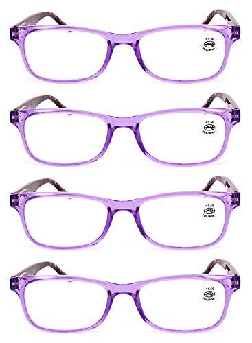 1 3 lentille et lecture 5 4 3 Lunettes de 2 femmes 1 en cadre 0 plein résine 0 Yefree 5 lunettes lecture 0 Violet rectangulaire 5 Pack 2 de Hommes pwq8n5H
