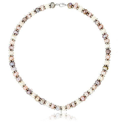 Gem Stone King Pink & White Cultured Freshwater Pearl Necklace Earrings Bracelet Set 7-8MM 18inches - http://coolthings.us