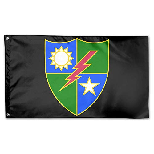 75th Ranger Regiment Breeze 3 X 5 Flag - Flying with The Wind - Vivid Color and UV Fade Resistant-Brass Grommets 3 X 5 Ft