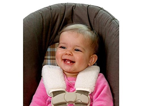 Assorted color by Jolly Jumper Jolly Jumper Soft Straps Carseat Strap Covers Soft Sherpa 710