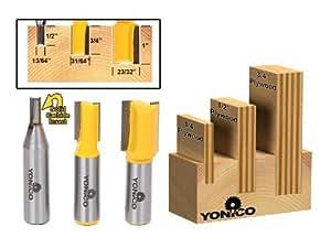 yonico 14323–3de madera contrachapada Dado Router Bits para 3/4de pulgada (1/2y 1/4de pulgada de madera contrachapada, Modelo: 14323–, Tools & hardware Store de vástago 1/2de pulgada
