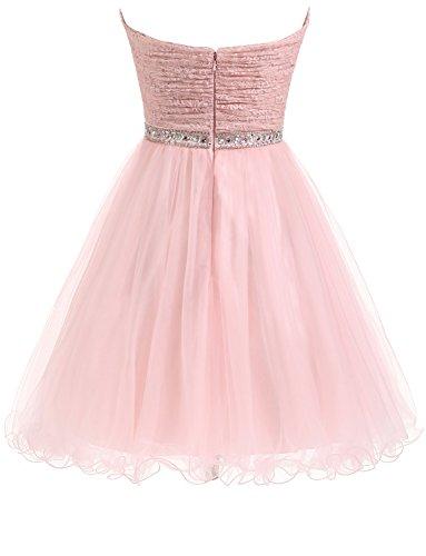 Prinzessin Spitze Ballkleid Kurze Brautjungfernkleid Erosebridal Elegantes wqI5AA