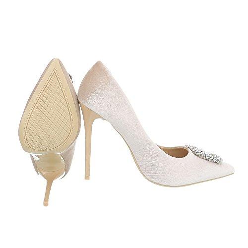 Beige Chaussures AF31 Compensées Design Ital Femme xUwq8XIn