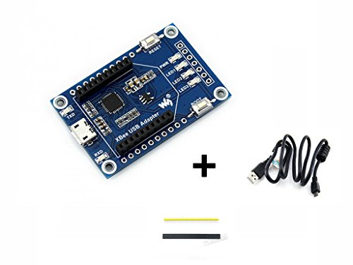 XBee USB Adapter UART Communication Board XBee Interface USB Interface Onboard Buttons/LEDs & USB to UART Module Easy to Program/Configure XBee Modules by waveshare
