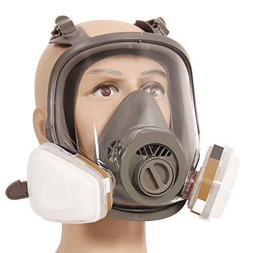 (TBDLG Gas Mask, Full Face Mask Respirator Anti-Dust Spray Chemical Gas Cartridge Respirator Paint Filter Mask)