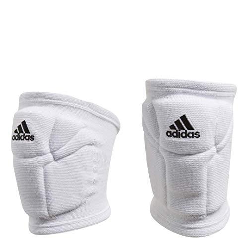 adidas womens Elite  Knee Pad, White/Black, Large