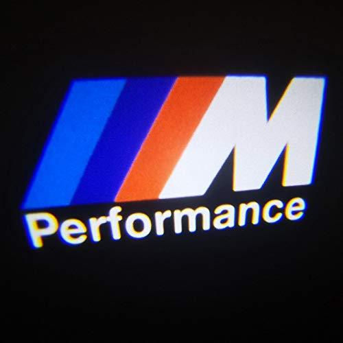 HITSAN INCORPORATION 2x Car Door Lights M Performance Logo LED For BMW E90 E60 F30 F10 F15 E63 E64 E65 E86 E89 E85 E91 E92 E93 F02 M5 E61 F01 M3 M4 Emitting Color M Performance