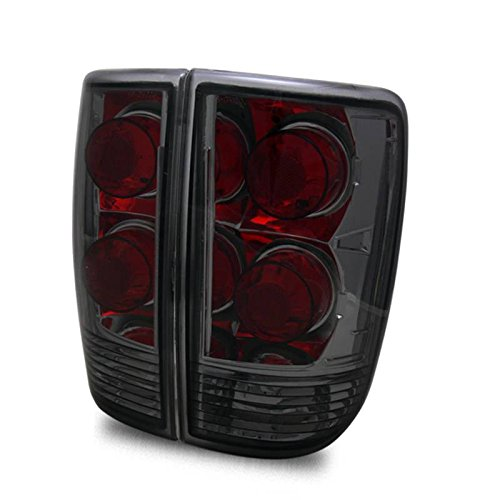 SPPC Dark Smoke Euro Tail Lights Assembly Set for Chevrolet Blazer - (Pair) Driver Left and Passenger Right Side Replacement (Body Tail Parts Set)