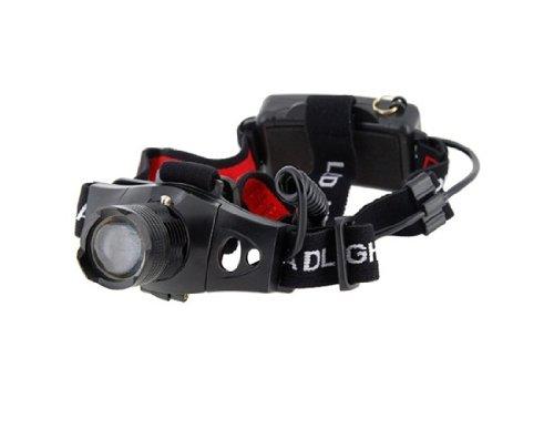 CREE Q5 LED 180LM 3Modes White Light Focus HeadLamp (Black)