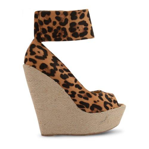 Footwear Sensation - Sandalias de vestir de sintético para mujer marrón - Leopard