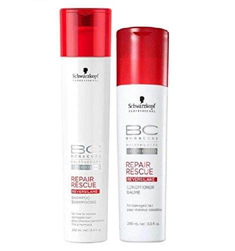Repair Rescue Bonacure - Schwarzkopf BC Bonacure REPAIR RESCUE SHAMPOO & CONDITIONER Duo SET for FINE TO NORMAL DAMAGED HAIR (8.5 oz/6.8 oz - DUO KIT)