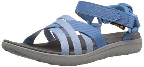 Teva Women's W Sanborn Sandal, Blue, 8 M US (Best Teva Sandals For Walking)