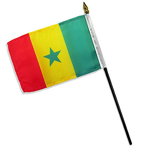 Kaputar 4x6 Senegal Stick Flag Table STF Desk Table | Model FLG - 7659 ()