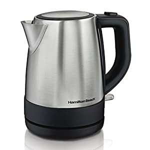 Hamilton Beach (40998) Electric Kettle, Tea & Coffee, 1 Liter, Stainless Steel
