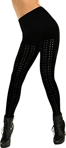 [Rubie's Costume Women's Studded Leggings, Black, One Size] (Biker Halloween Costumes For Adults)