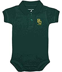 Baylor Bears NCAA College Newborn Infant Baby Polo Creeper (3-6 Months )