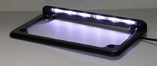 Complete Motorcycle License Plate Frame White LED 6