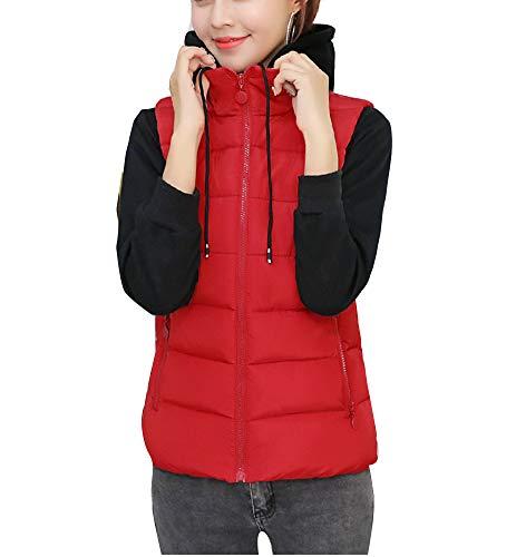 giacche per Caldo giacche da leggero donna l'inverno maniche senza per InRqAC
