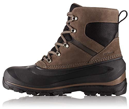 Sorel - Men's Buxton Lace Waterproof Winter Boot, Major/Black, 8 M US
