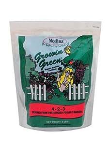 Medina Growin Green Granular Organic Fertilizer 4-2-3 375 Sq. Ft. Granules 5 Lb.
